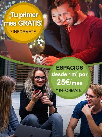 Promoción mes gratis / Trateros de 1m x 25€