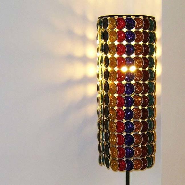 Lámpara de pie con capsulas de Nespresso