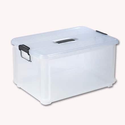 Caja de plástico transparente de Bricor.
